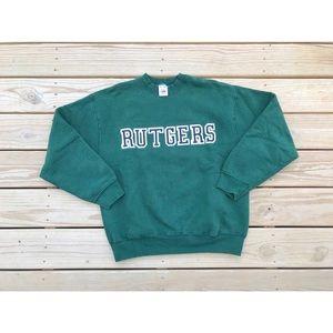 Vintage 80s/90s Rutgers Crewneck Sweater Size L